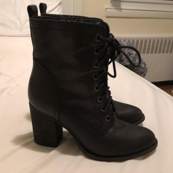 10be2469036 Steve Madden block heel combat boots